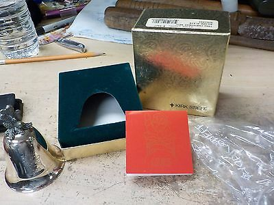 1993 Kirk Stieff SANTA IS COMING TO TOWN Silverplate Christmas Music Bell w/ Box