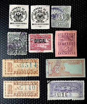Colombia BOB Stamps Used