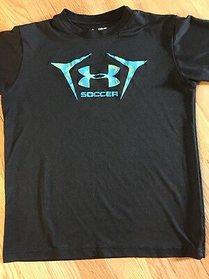 Under Armour YXL Loose Fit Heat Gear Green T-shirt Kids Boys Youth