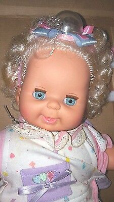 "Vintage 1989 Ideal 15"" Baby Bubbles Doll NRFB"