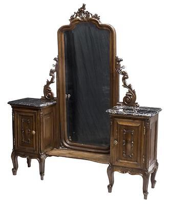 Louis Xv Style Carved Bedroom Set, Early 1900S