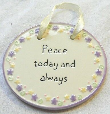 Russ Spring Time Easter Porcelain Ornament Peace today and always