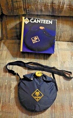 Vintage Wolf Cub Scout Aluminum Canteen With Blue Cover in Box
