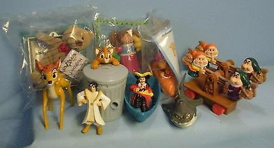 McDonald's Happy Meal Toys Asst . 10 pcs . Bambi . Oliver . Snow White . Pan