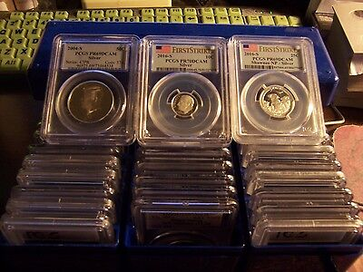 ( Lot Of 3) Silver Coins Certified By Pcgs- Random Pull 3 Total Lot1-So Worth It