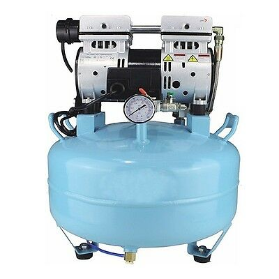Silent Oilless Air Compressor Oil Free W Air Filter for Medical Dental Chair USA