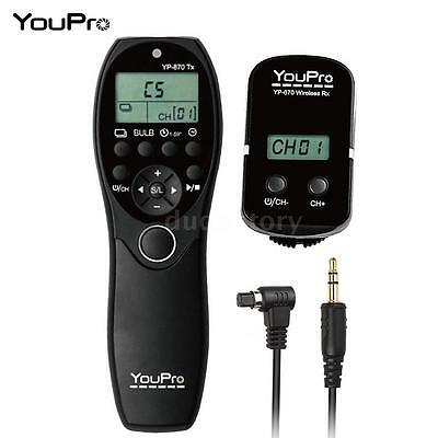 Wireless Remote Control Timer Shutter Release for Canon EOS 5D 7D 1D 6D 40D Z4F8