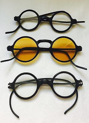 Antique / Vintage LOT of 3 HAROLD LLOYD Looking Spectacles AS-IS-AS-SHOWN