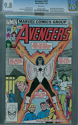 Avengers #227 (1983) Cgc 9.8 White Pages Captain Marvel Joins Avengers