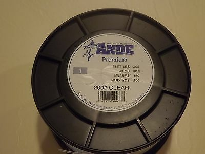 Ande Premium Monofilament Fishing Line - 200 Lb Test - 200 Yards - Clear