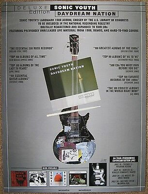 SONIC YOUTH Album 2007 POSTER 18x24 Daydream Nation Deluxe Edition 2-Sided