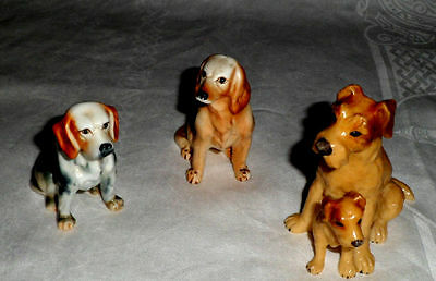 Dog Ornaments. Vintage Trio Of Dogs.