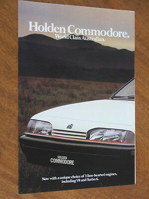1987 Holden VL Commodore including Turbo original 8 sided foldout brochure