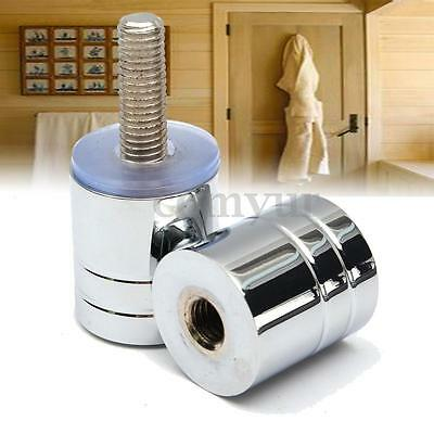 30mm Home Bathroom Shower Door Single Groove Chrome Plated Handle Knob Replace