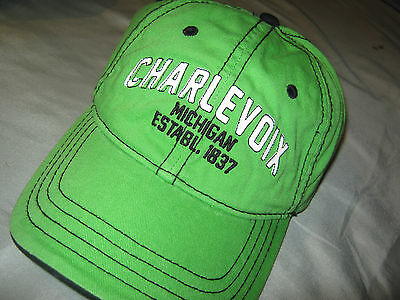 CHARLEVOIX MICHIGAN * 100% COTTON * Ball Cap NEW w/o TAGS