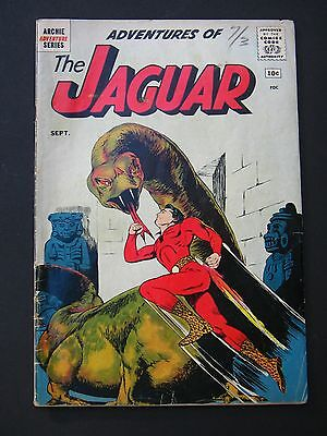Adventures of the Jaguar #1   Archie Comics  Mid Grade Book  Origin Issue