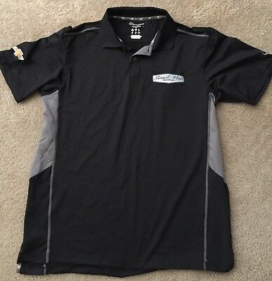 TONY STEWART HAAS NASCAR TEAM ISSUE pit crew Polo Shirt Champion M Medium Rare