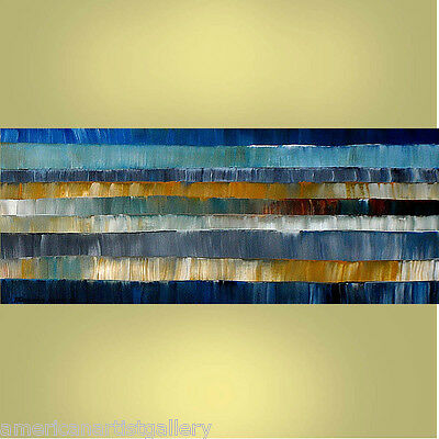 EXTRA LARGE 24x60x2 Original Abstract  Acrylic Painting Art By Thomas John