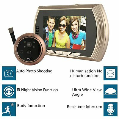 Digital Peephole Door Viewer Camera LCD Monitor Video Home Security Night Vision