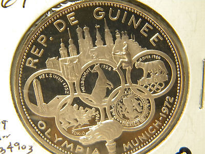 1 coin 500 francs guineens 1969 guinea .999 fine silve