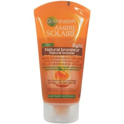 Garnier Ambre Solaire Natural Bronzer Light 150Ml Velvet-Touch Bronzing Gel