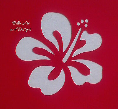 List 1 Assorted Hibiscus  Flower Stencils - **Free gift with every order**