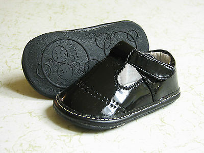 JACK & LILY GIRLS MARY JANE BLACK PATENT LEATHER SHOES  SIZE 6-12 Months