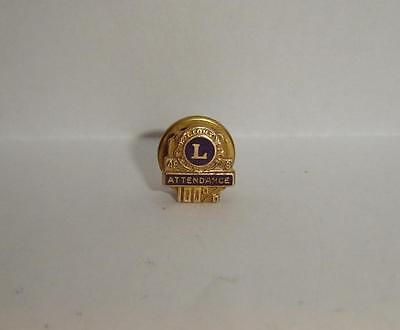 Vintage 1948 - 1949 Lions International 100% Attendance 48 49 Pin