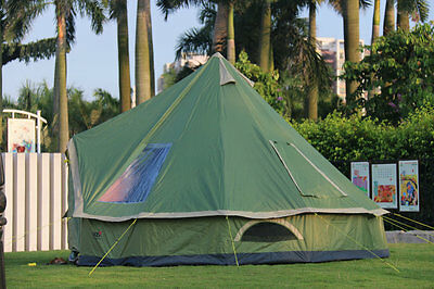 5-8 Persons Green Pop Up 1's Waterproof Outdoor Camping Hiking Tent @