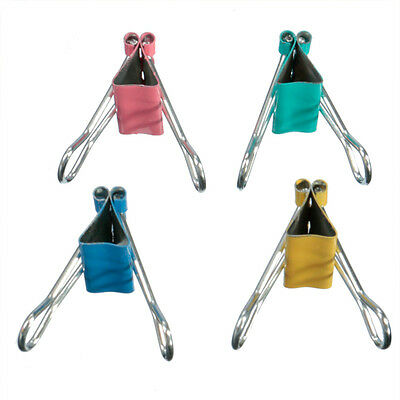 Classic Colorful Document Clips Office Stationery Binder Clips Paper Holder