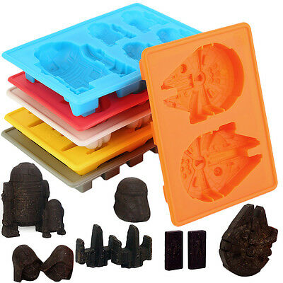 6pcs/Kit Star Wars Ice Tray Silicone Mold Cube Tray Chocolate Fondant Moulds AA