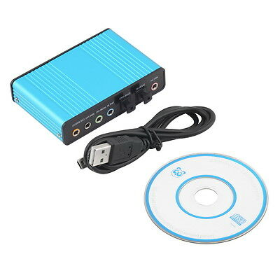 USB 6 Channel 5.1 Audio External Optical Sound Card Adapter For PC Skype AA