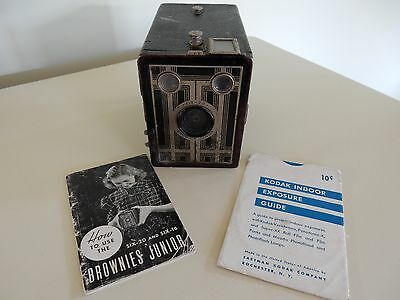 "VINTAGE SIX-20 ""BROWNIE"" JUNIOR BOX CAMERA with instructions"