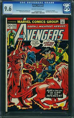 AVENGERS #112 CGC 9.6 - Whte Pagges; 1st Mantis