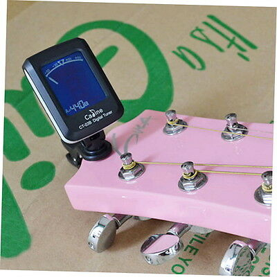 LCD Clip-On Guitar Bass Violin Ukulele Chromatic Electronic Tuner Tuning AA