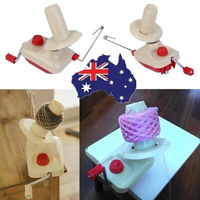 Plastic Winder Machine Hand Operated Yarn Fiber Wool String Ball Thread Tool AA