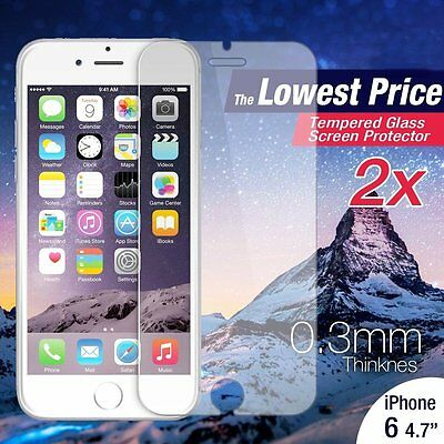 "W87 Premium Real Tempered Glass Film Screen Protector For iphone 6S/6 4.7"" YB"