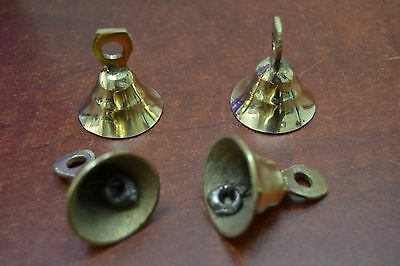 "4 Pcs Handmade Cow Goat Sheep Solid Brass Bells 1 1/2"" #t-218"