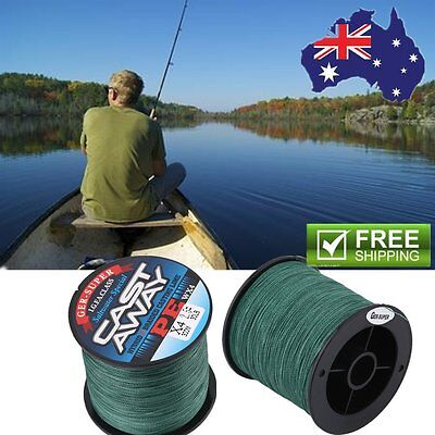 Good Quality 300M PE 4 Strand Strong Strength Braid Fishing Line Army Green AA