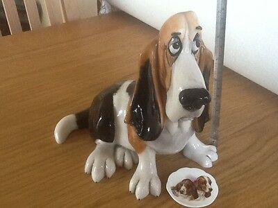 Basset hound - Charlie Farley  + Bassett plate - pets with personality