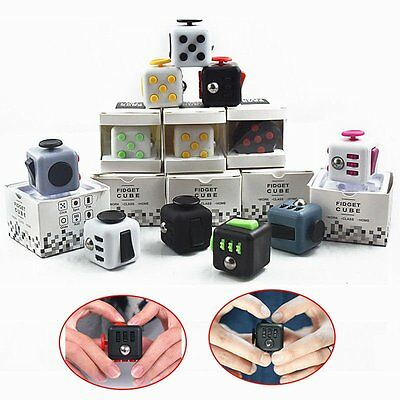 NEW! Magic Fidget Cube Toy Stress Anxiety Relief Toy Focus Adults Kid ADHD Gift#