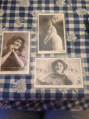 3 Phyllis Dare And Zena Postcards Rotary Photos 4821F,  4476i, 4470 D.