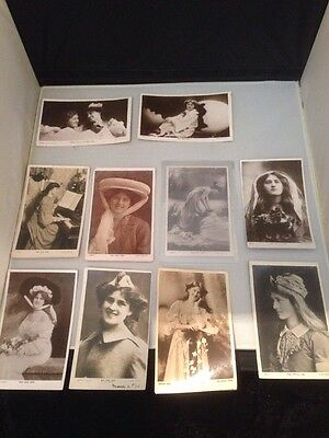 10 Edwardian PC Zena And Phyllis Dare Rotary And Davidson Cards.