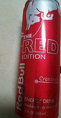 5× Red Bull Summer Edition cranberry   Full 12oz Can.