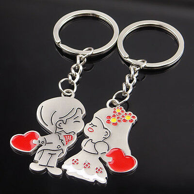 Couples Creative Alloy Keyfob Gift Cartoon Car Keyring Key Chain Ring Keychain