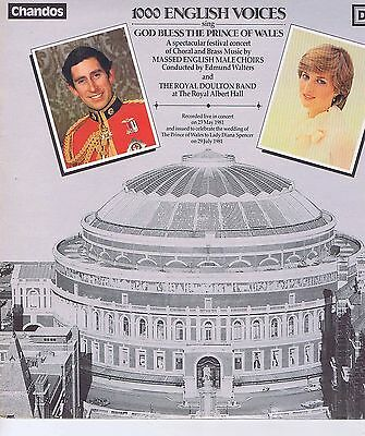 MASSED EBGLISH MALE CHOIRS / ROYAL DOULTON BAND God bless the Prince of Wales LP