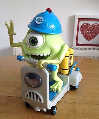 Disney Monsters Inc Mike's Scare Scooter Whizzes Around Sounds & Lights HTF ��