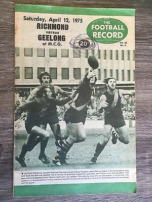 1975 VFL AFL football record Richmond Tigers vs Geelong Cats April 12 1975