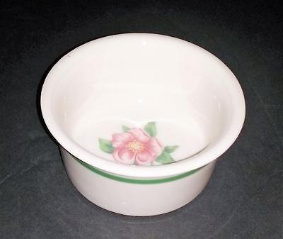 C&nw Rr Chicago & North Western Railroad Syracuse China Wild Rose Ramekin Rare