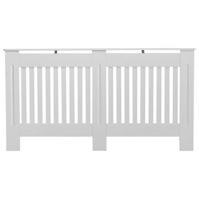 Large Radiator Cover White Painted Wall Cabinet Wood MDF Heating Covers Shelf